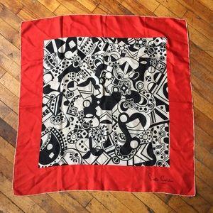 1960's Pierre Cardin True Vintage Silk Scarf